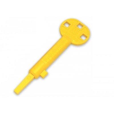 Kunststof bouwsleutel - geel